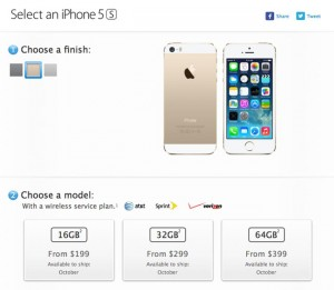 iPhone 5S Shipping Now October For The US