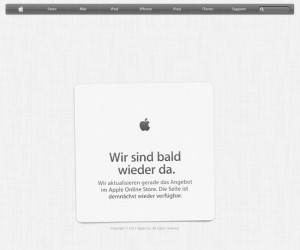 Apple Store Down Ahead Of iPhone 5C Pre-orders