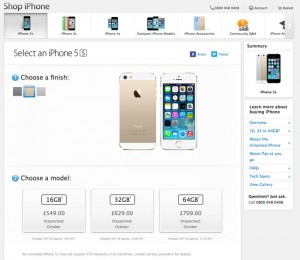 iPhone 5S Launched In The UK, Shipping In 7 To 10 Days
