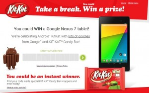 KitKat Android Contest is Live, Win a Nexus 7 or $5 Worth Google Play Credit