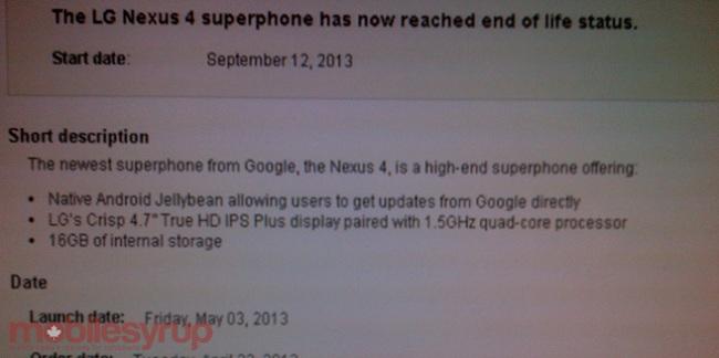 Nexus 4 Bell
