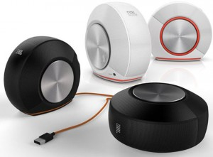 JBL Pebbles Speakers Are Shaped like a Snail and Powered by USB