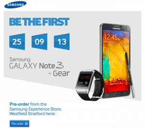 Samsung Galaxy Note 3 Price For The UK Is £649