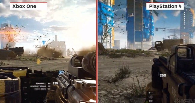 battlefield 4 playstation 4 vs xbox one