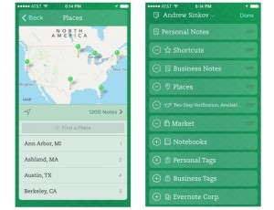 Evernote iOS App Update Adds New Places Feature And More