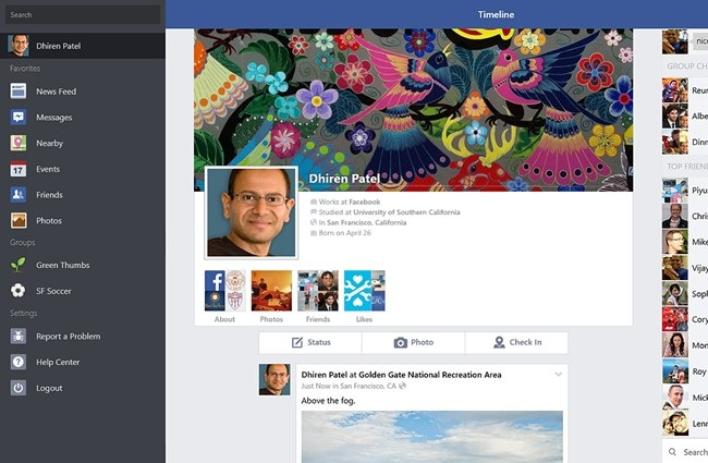 Facebook Windows App