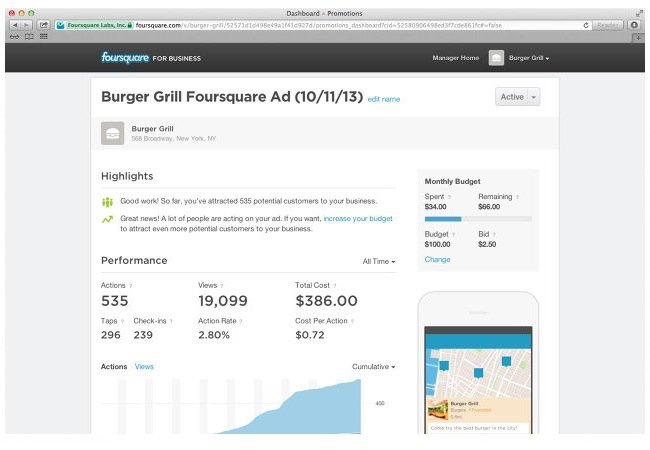 Foursquare Advertising