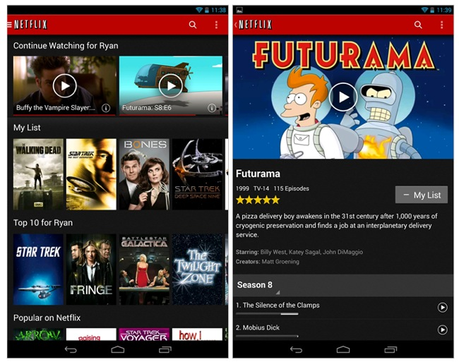 Netflix Android App