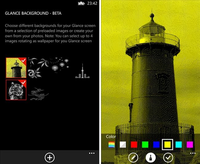 Glance Background App