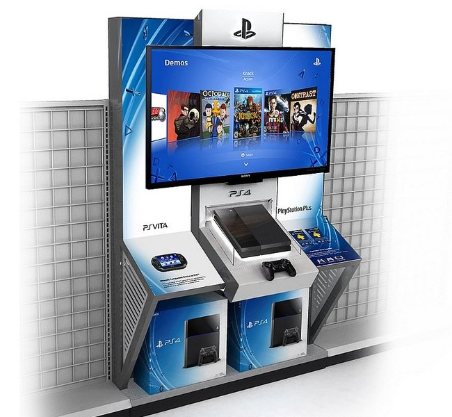 PlayStation 4 demo kiosks