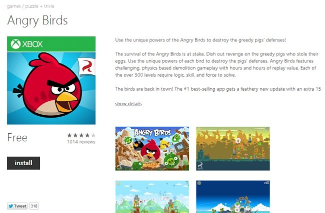 Angry Birds WP