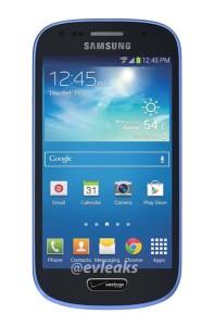 Blue Samsung Galaxy S4 Mini For Verizon Leaked