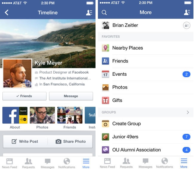 Facebook for iOS