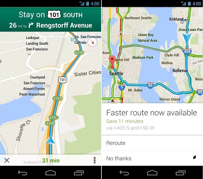 Google Maps for Android Updated with Improved Notifications ... on google bookmarks android, onedrive android, google analytics android, google map san francisco bay, google map example, social networking apps android, baidu maps android, google notes android, google calendar app for windows 8, google voice android, google search bar android, chromebook android, google marketplace android, downloadable maps for android, google chrome browser android, ical android, total commander android, google groups android, google talk android, windows media player android,