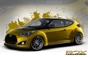 Hyundai and Fox Marketing Cars Create the Most Powerful Street Veloster Turbo for SEMA
