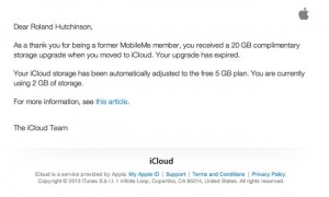 Apple Ends Free iCloud Storage For MobileMe Members