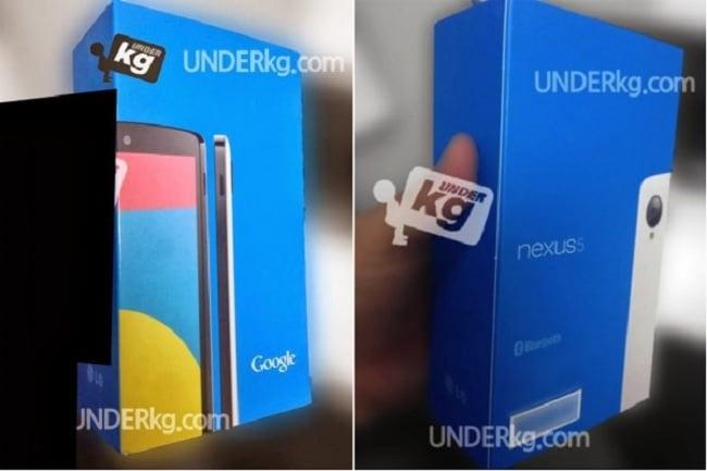 Nexus 5 packing