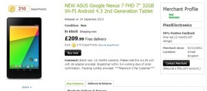 Google Nexus 7 (2013) 32GB Available for £209.99 in the UK