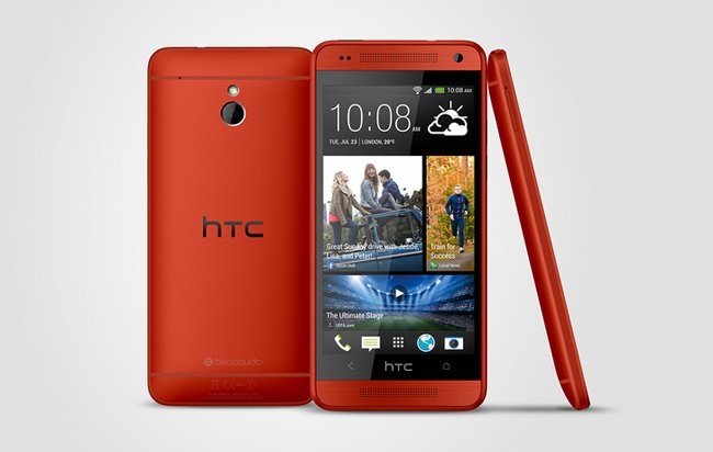 Red HTC One Mini