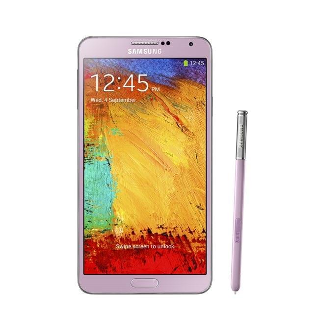 Pink Samsung Galaxy Note 3