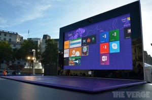 Giant Microsoft Surface 2 Tablet Lands In London