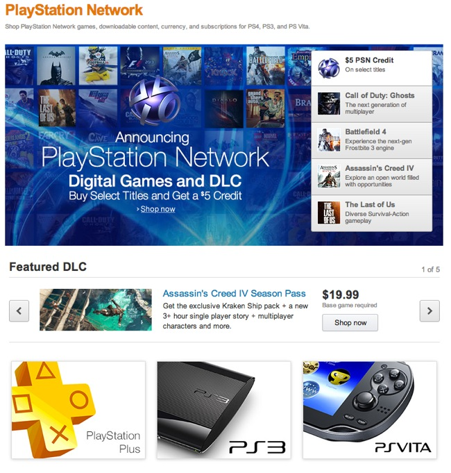Amazon PlayStation Network