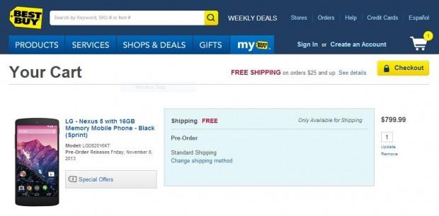 Best Buy Nexus 5 Price