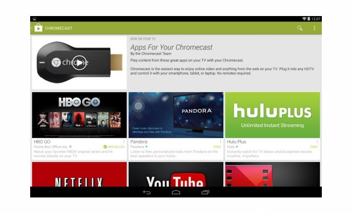Chromecast apps