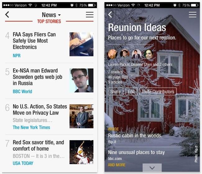 Flipboard iOS App Update