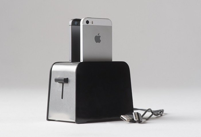 Foaster Iphone Charging Toaster Is Perfect For Your