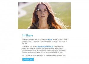 Google Invites Developers To Purchase Their Google Glass Explorer Edition Eyewear