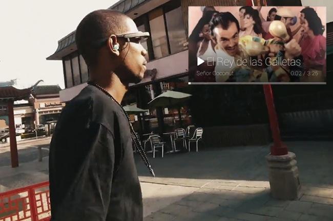 Google Glass Play Music