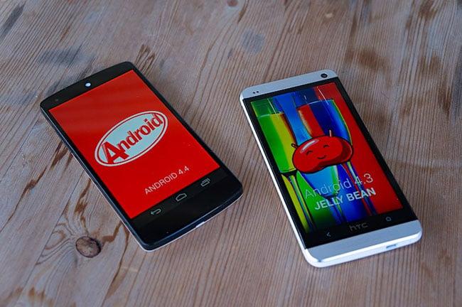 Google Nexus 5 vs HTC One
