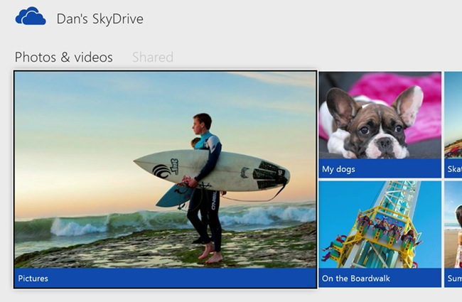 Microsoft Xbox One SkyDrive Photo and Video Streaming Demonstrated