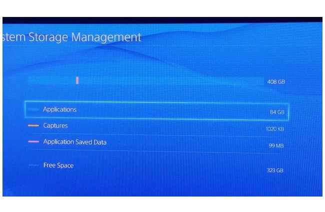 PlayStation 4 actual storage capacity