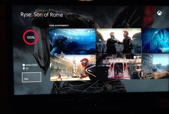 Xbox One Achievement Interface