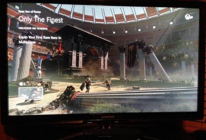 Xbox One Achievement Interface