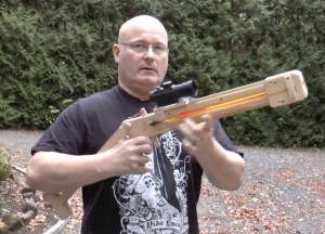 Slingshot Dart Shooting Sniper Rifle Created By Joerg Sprave (video)