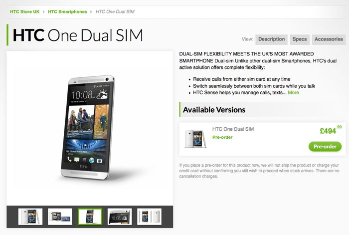 Dual SIM HTC One
