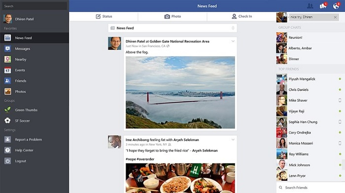 Facebook Windows 8.1