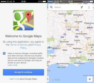 Google Maps For iOS Updated