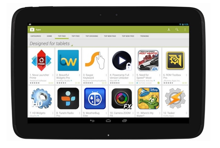 Google Play Store Tablets