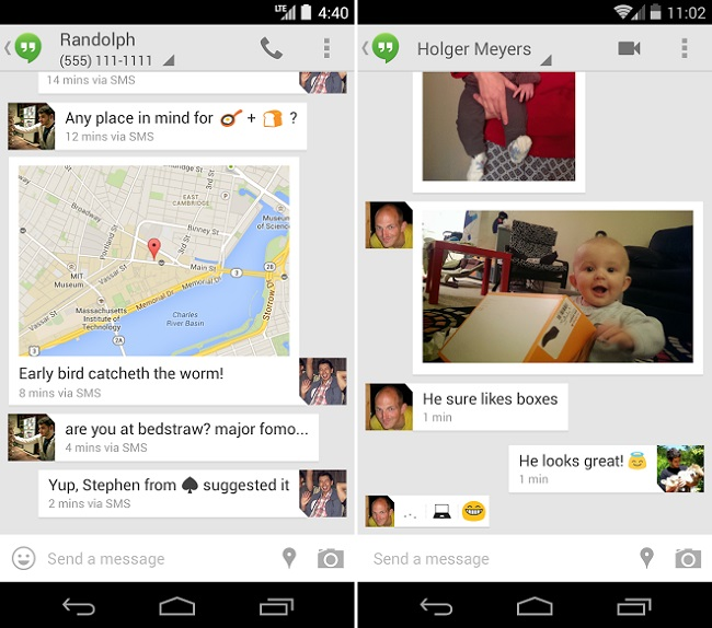 Hangouts V2 To Replace Messaging on Android in Google Nexus 5