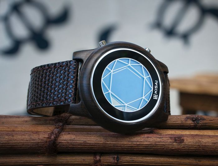 okyoflash Kisai Polygon Wood Watch