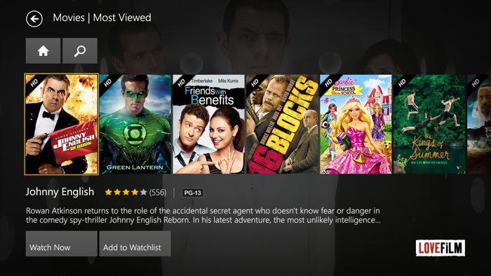 Lovefilm Xbox One