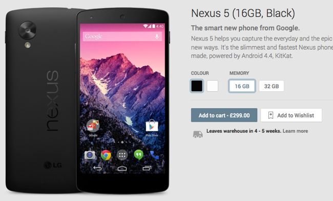 Nexus 5 UK