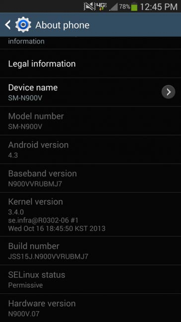 Verizon galaxy Note 3 update