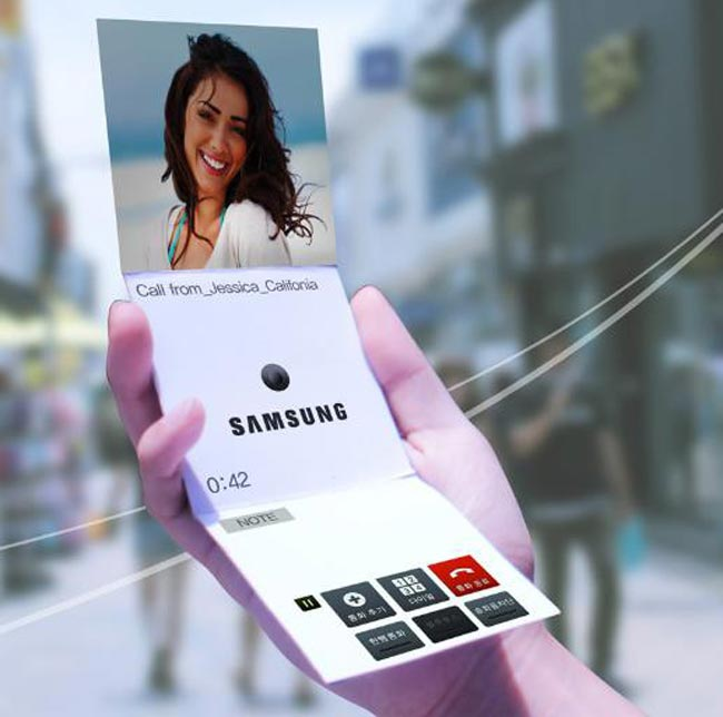 Samsung Flexible Display Smartphone Concept Shown Off