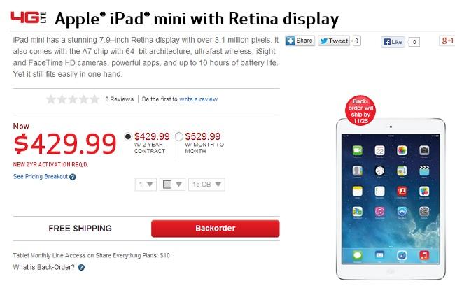 Verizon iPad Mini