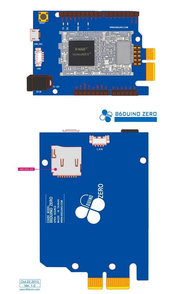 Duino zero arduino development board available for